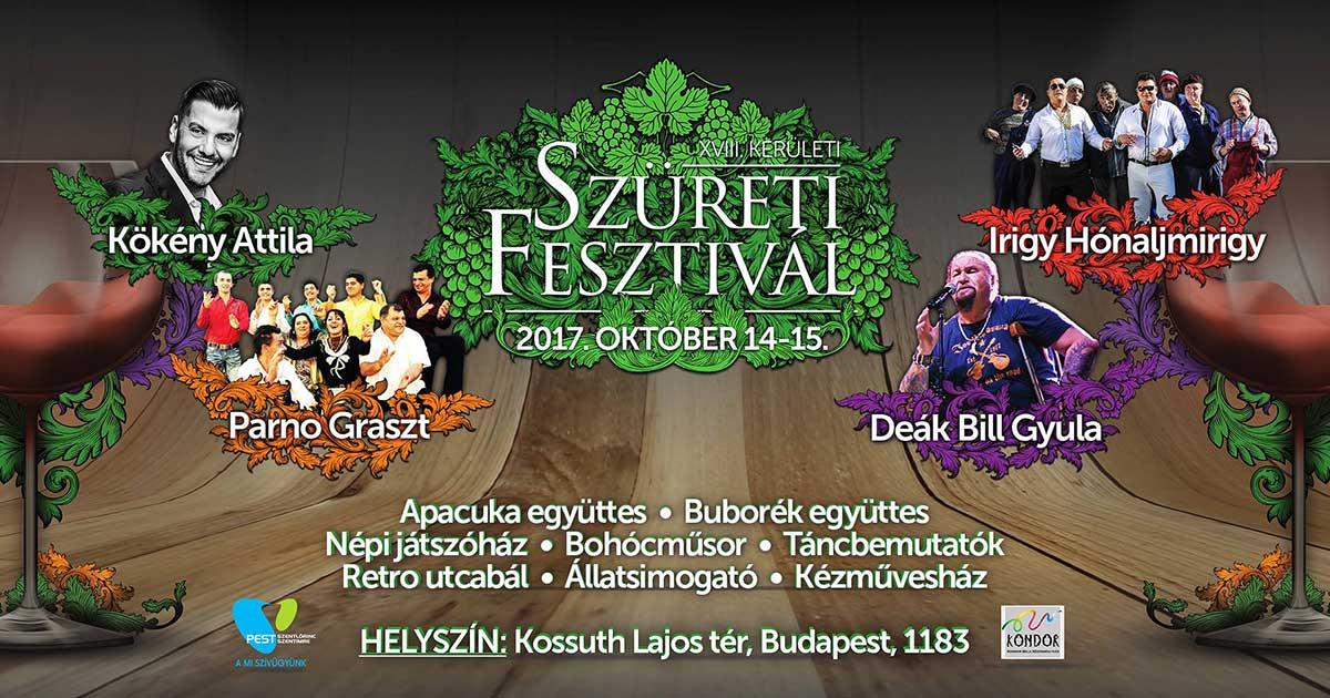 Szüreti fesztivál 2017 plakát